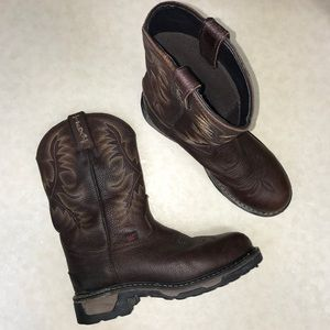 Tony Lama TLX waterproof steel toe western boots